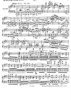 Большая соната для фортепиано, Op.7: Большая соната для фортепиано by Теодор Куллак