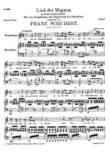 Песнь Миньоны, D.481: Песнь Миньоны by Франц Шуберт