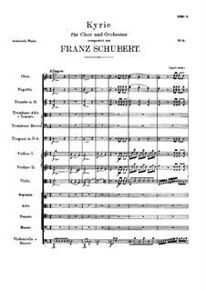 Кирие для хора с оркестром ре минор, D.49: Кирие для хора с оркестром ре минор by Франц Шуберт