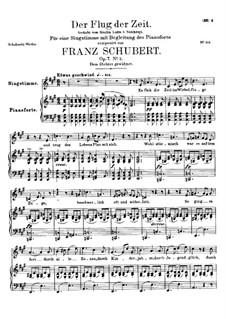 Полет времени, D.515 Op.7 No.2: Ля мажор by Франц Шуберт
