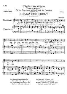 Täglich zu singen (To Sing Daily), D.533: F Major by Франц Шуберт