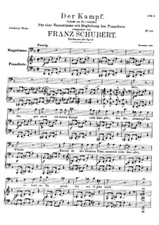 Der Kampf (The Battle), D.594 Op.110: Der Kampf (The Battle) by Франц Шуберт