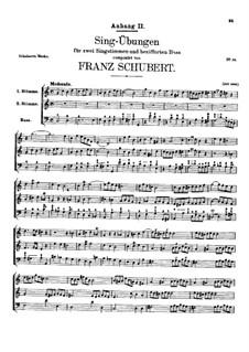 Вокальные упражнения, D.619: Дополнение II by Франц Шуберт