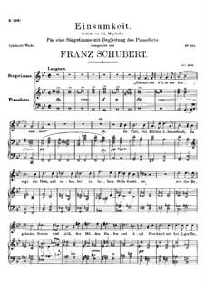 Einsamkeit (Solitude), D.620: Einsamkeit (Solitude) by Франц Шуберт