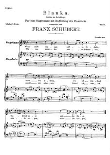 Blanka, D.631: A minor by Франц Шуберт