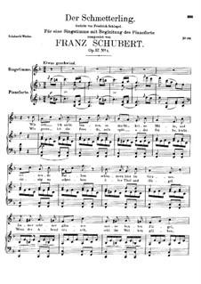 Der Schmetterling (The Butterfly), D.633 Op.57 No.1: F Major by Франц Шуберт