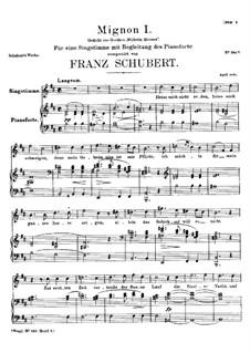 Миньон (I), D.726: Миньон (I) by Франц Шуберт