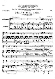 Der Blumen Schmerz (The Flowers Pain), D.731 Op.173 No.4: Der Blumen Schmerz (The Flowers Pain) by Франц Шуберт