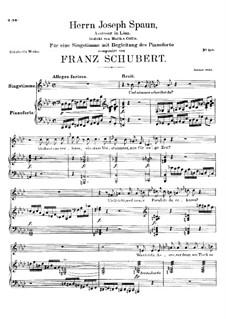 An Herrn Josef von Spaun. Assessor in Linz (To Mr. Josef von Spaun), D.749: C minor by Франц Шуберт