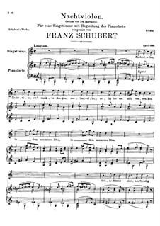 Nachtviolen (Dame's Violets), D.752: C Major by Франц Шуберт