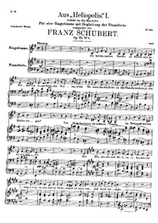 From 'Heliopolis' I, D.753 Op.65 No.3: For voice and piano by Франц Шуберт