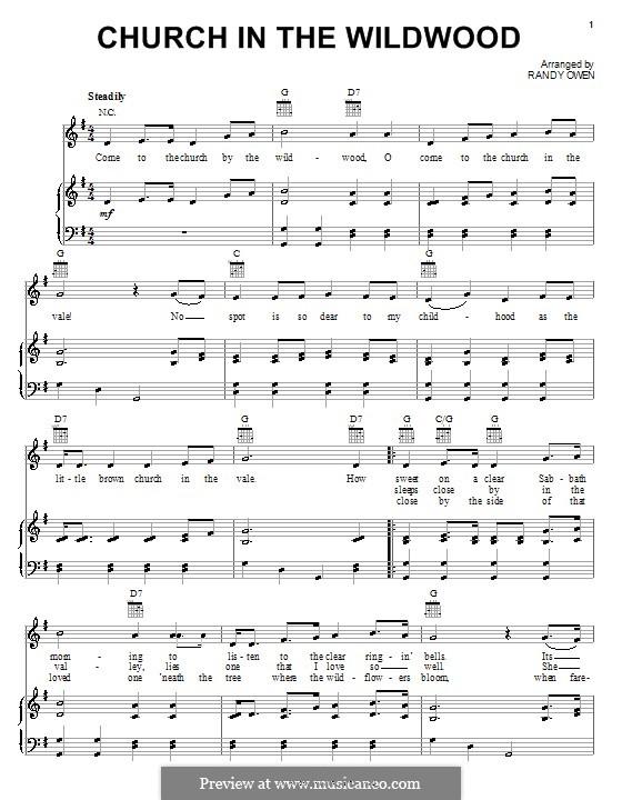 Church in the Wildwood (Alabama): Для голоса и фортепиано (или гитары) by Randy Owen