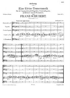 Eine kleine Trauermusik, D.79: Eine kleine Trauermusik by Франц Шуберт