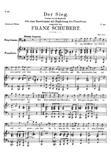 Der Sieg (The Victory), D.805: F Major by Франц Шуберт