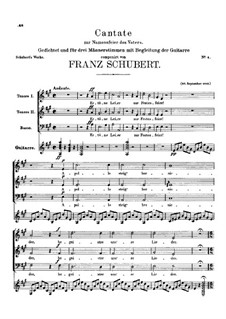 Cantata for the Name-Day of my Father, D.80: For trio by Франц Шуберт