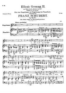 Ellen's Song II, D.838 Op.52 No.2: For voice and piano by Франц Шуберт