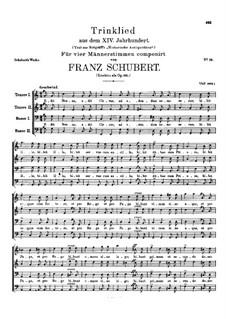 Застольная песня из шестнадцатого века, D.847 Op.155: Застольная песня из шестнадцатого века by Франц Шуберт