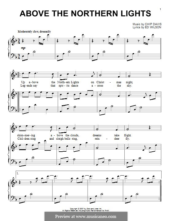 Above the Northern Lights (Mannheim Steamroller): Для фортепиано by Chip Davis, Ed Wilson
