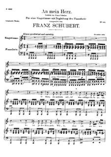 An mein Herz (To My Heart), D.860: An mein Herz (To My Heart) by Франц Шуберт