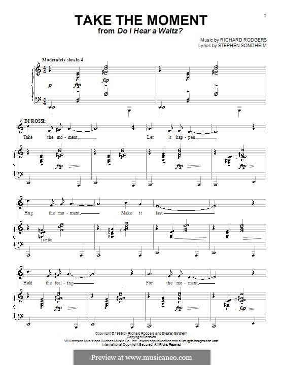 Take the Moment: Для голоса и фортепиано (или гитары) by Richard Rodgers