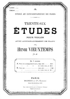 Тридцать шесть этюдов для скрипки, No.1-12, Op.48: Тридцать шесть этюдов для скрипки, No.1-12 by Анри Вьетан