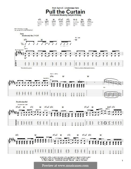 Pull the Curtain (Sum 41): Для гитары с табулатурой by Deryck Whibley
