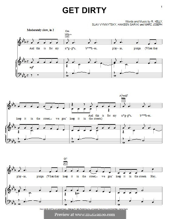 Get Dirty: Для голоса и фортепиано (или гитары) by Hakeen Sariki, Marc Joseph, Slav Vynnytsky
