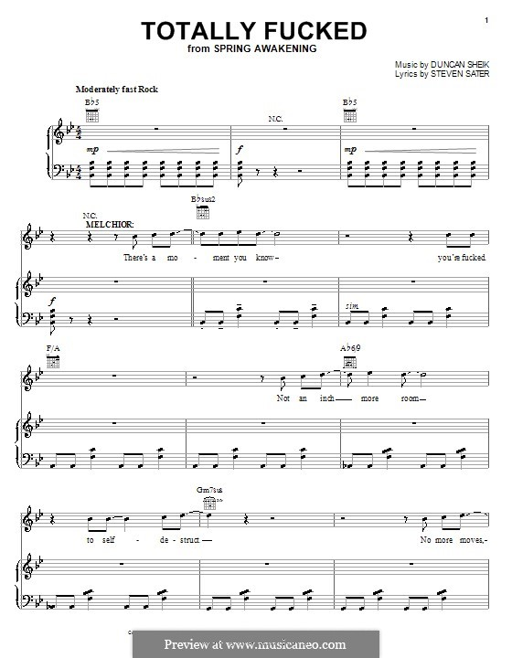 Totally Fucked: Для голоса и фортепиано (или гитары) by Duncan Sheik