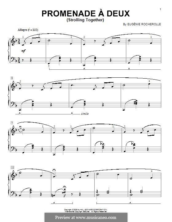 Promenade á deux (Strolling Together): Для фортепиано by Eugénie Rocherolle
