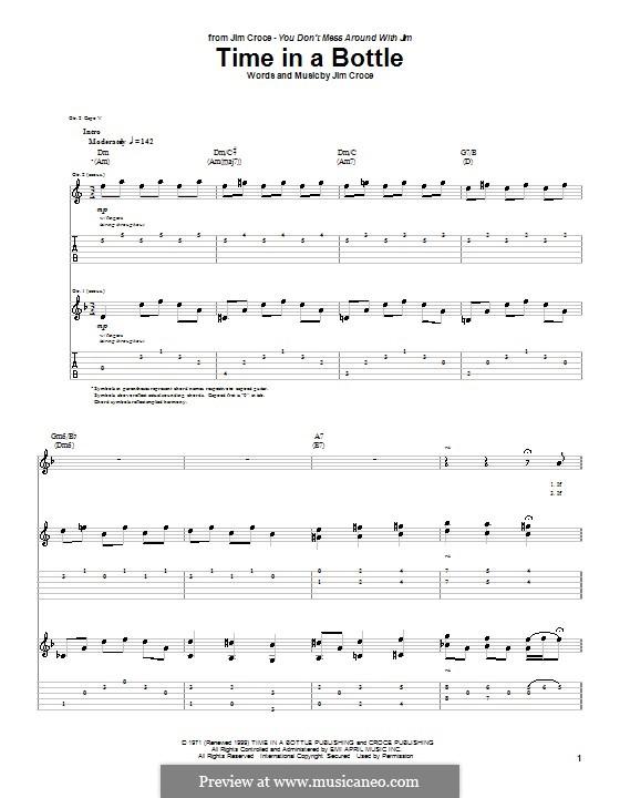 Time in a Bottle: Для гитары by Jim Croce