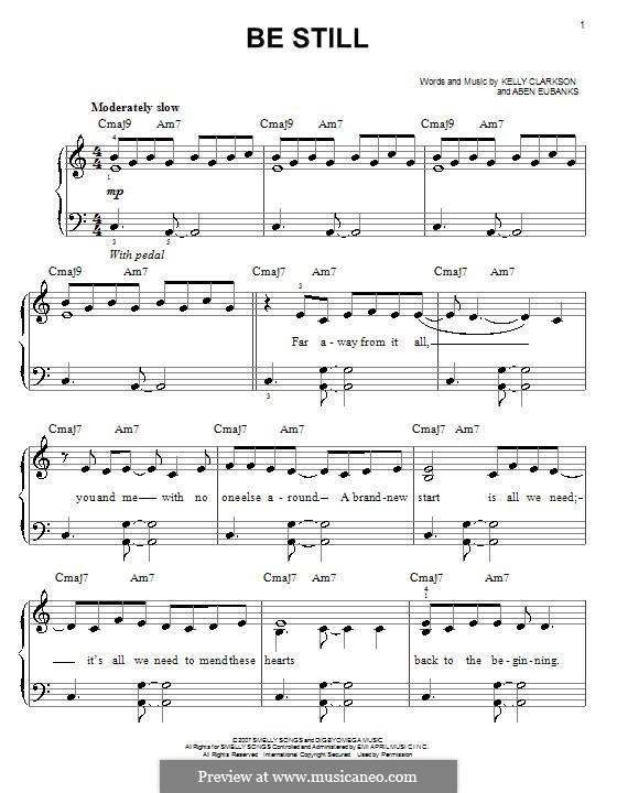 Be Still (Kelly Clarkson): Для фортепиано (легкий уровень) by Aben Eubanks