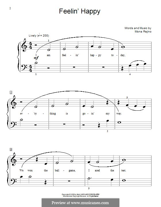 Feelin' Happy: Для фортепиано by Mona Rejino