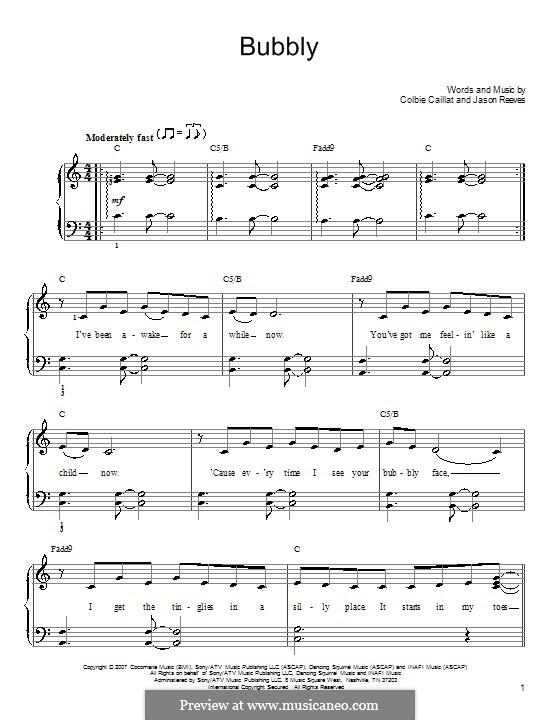 Bubbly: Для начинающего пианиста by Jason Reeves