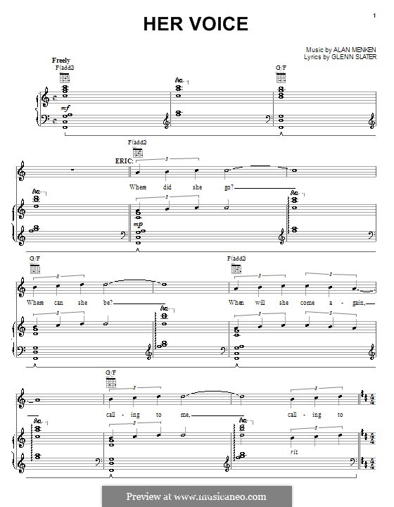 Her Voice: Для голоса и фортепиано (или гитары) by Alan Menken