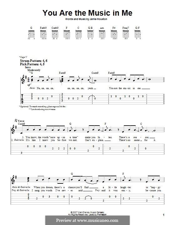 You are the Music in Me (High School Musical 2): Для гитары (очень легкая версия) by Jamie Houston