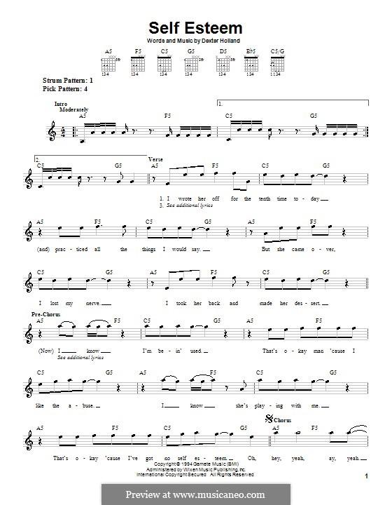 Self Esteem (The Offspring): Для гитары (очень легкая версия) by Dexter Holland