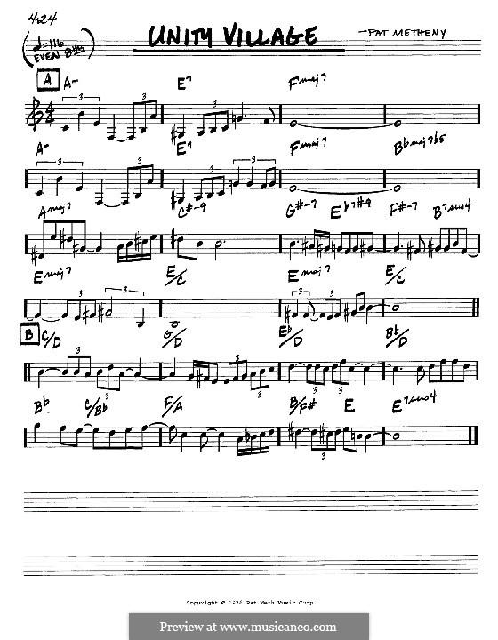 Unity Village: Мелодия и аккорды - инструменты in C by Pat Metheny