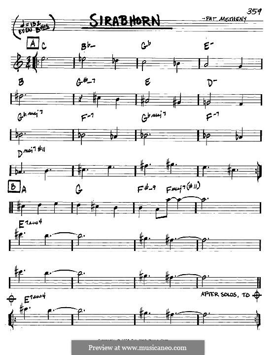 Sirabhorn: Мелодия и аккорды - инструменты in C by Pat Metheny