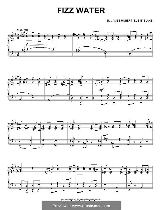 Fizz Water: Для фортепиано by James Hubert Blake
