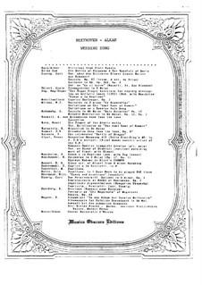 Свадебная песня: Версия для фортепиано by Людвиг ван Бетховен