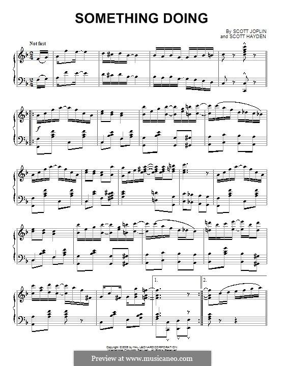Что-то происходит: Для фортепиано by Скотт Джоплин, Scott Hayden