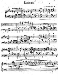 Пять пьес для фортепиано, Op.5 No.2: No.1 Романс by Константин Антипов