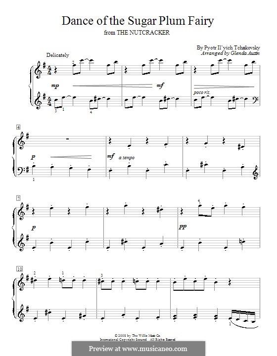 No.3 Танец феи Драже, для фортепиано: For a single performer (version by G. Austin) by Петр Чайковский