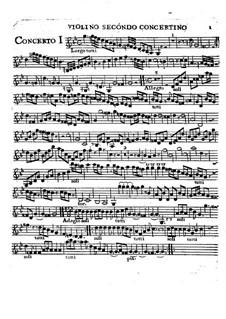 Шесть концетров, Op.2: Violino II concertino part by Чарльз Ависон