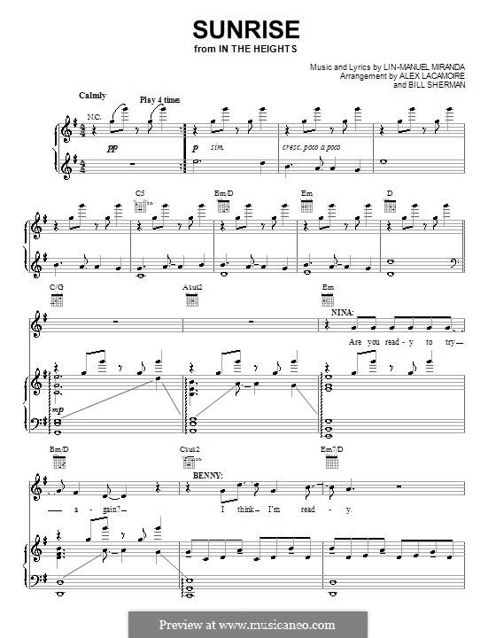 Sunrise: Для голоса и фортепиано (или гитары) by Lin-Manuel Miranda