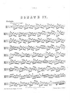Сюита для виолончели No.4 ми-бемоль мажор, BWV 1010: Переложение для альта by Иоганн Себастьян Бах