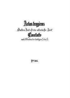 Время Божье - наилучшее время, BWV 106: Партитура by Иоганн Себастьян Бах