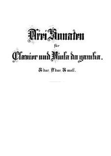 Соната для виолы да гамба и клавесина No.1 соль мажор, BWV 1027: Партитура by Иоганн Себастьян Бах