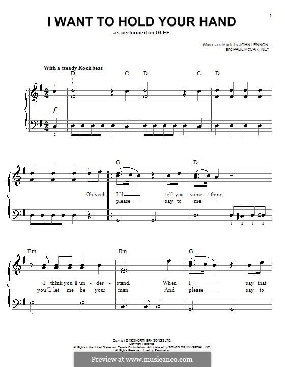 I Want to Hold Your Hand (The Beatles): Для фортепиано (легкий уровень) by John Lennon, Paul McCartney