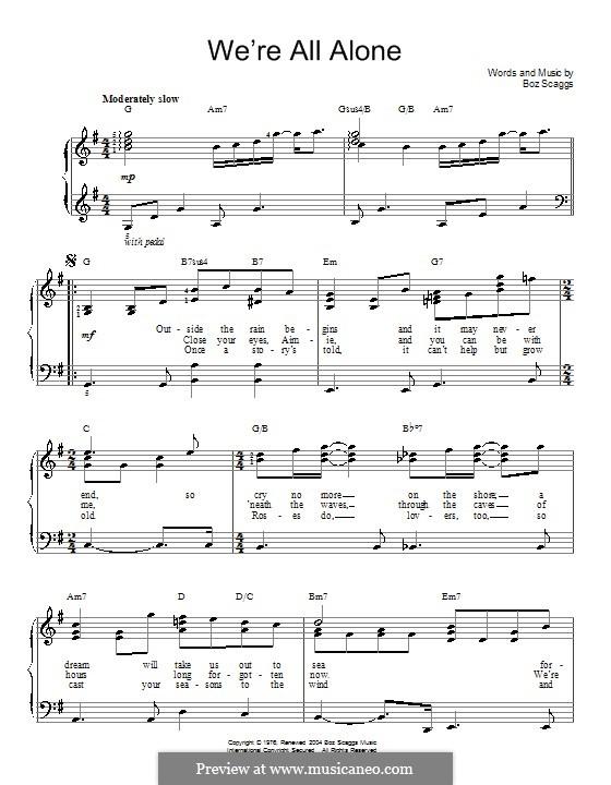 We're All Alone: Для начинающего пианиста by Boz Scaggs